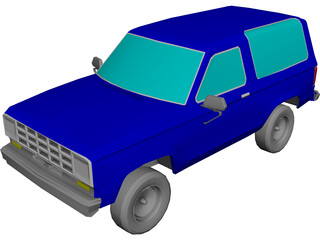 Ford Bronco (1987) 3D Model 3D Preview