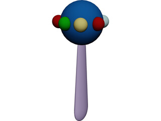 Baby Rattle 3D Model