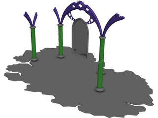 Archway Cemetery 3D Model