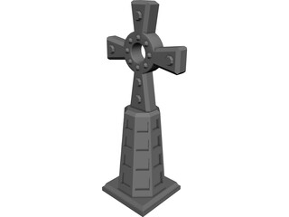Cross Celtic 3D Model
