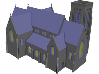 Church Gothic 3D Model 3D Preview