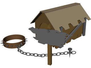 Dog House 3D Model 3D Preview