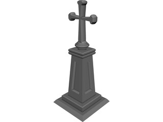 Christian Cross 3D Model
