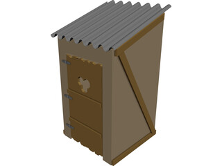 Wild West Outhouse 3D Model