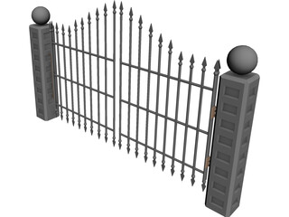 Spiked Gate 3D Model 3D Preview