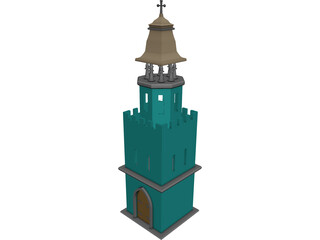 Tower Christian 3D Model