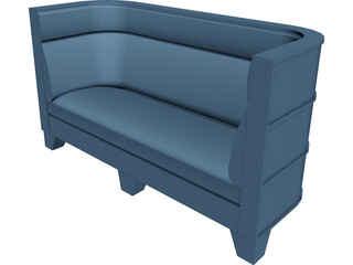 Couch Art Deco Styled 3D Model
