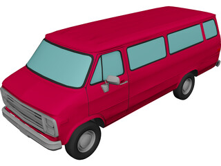 Dodge B350 Maxiwagon (1989) 3D Model