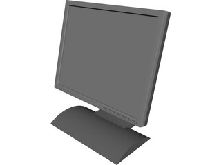 Monitor 19in Flat Panel Computer 3D Model