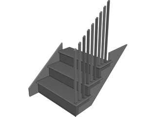 Staircase 3D Model 3D Preview