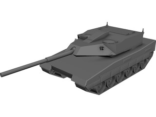 Future Light Tank Fictional Design 3D Model