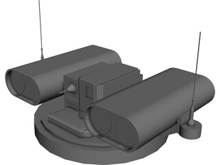 HOT Anti Tank Missile Turret 3D Model