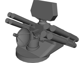 French Crotale Surface to Air Missile Launcher 3D Model