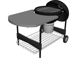 Charcoal Grill 3D Model 3D Preview