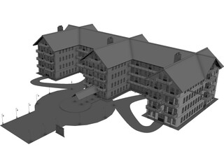 Hotel Classic Countryside 3D Model