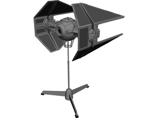 Star Wars Imperial TIE Interceptor 3D Model