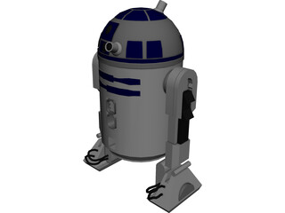 Star Wars R2-D2 R2-Unit 3D Model