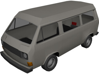 Volkswagen Bus 3D Model
