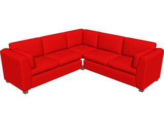 Couch Sectional 3D Model