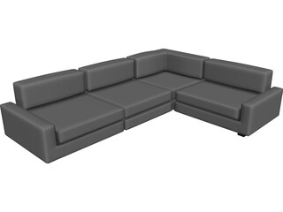 Couch Sectional Modern 3D Model