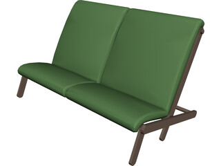 Couch Folding Contiki 3D Model