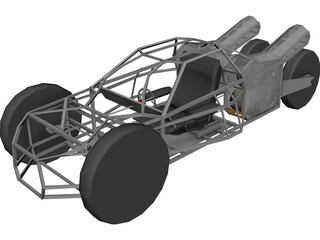 Dune Buggy 3D Model 3D Preview