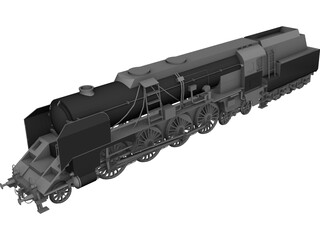 BR12 Austrian Steamengine 3D Model