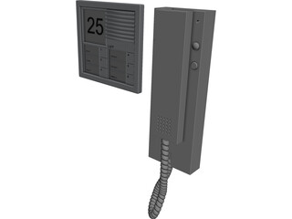 Siedle Door Bell 3D Model