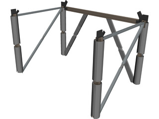 Skyscraper Metal Construction Core 3D Model