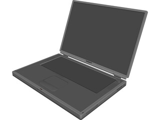 Powerbook G4 Titanium 3D Model