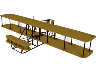 Wright Brothers Plane 3D Model 3D Preview