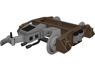 Train Hitch 3D Model