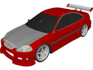Honda Civic Coupe [Tuned] 3D Model