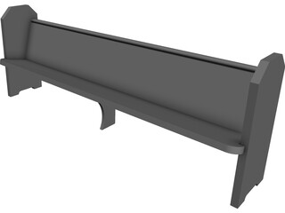 Church Pew Simple 3D Model