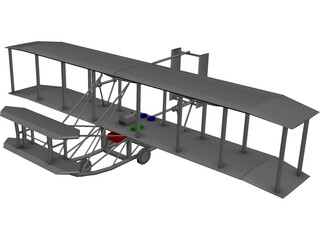 Wrights Aircraft 3D Model