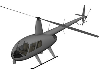 Robinson R44 News 3D Model