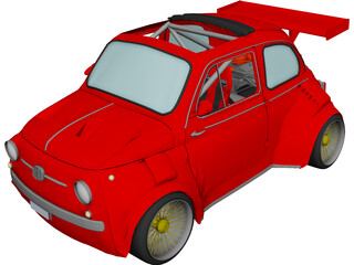 Fiat Lancia 500 RS4 Rally Car 3D Model