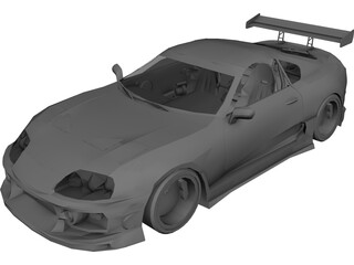 Toyota Supra [Tuned] 3D Model