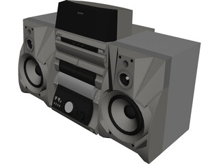 Sony Stereo System 3D Model