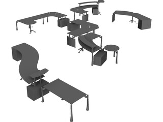 Moving Office 3D Model