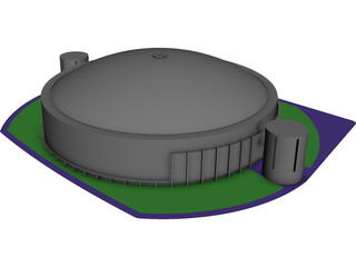 Astrodome Houston 3D Model