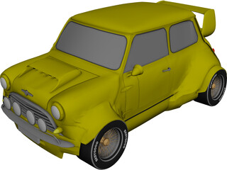 Mini Cooper MG4 Rally Car 3D Model