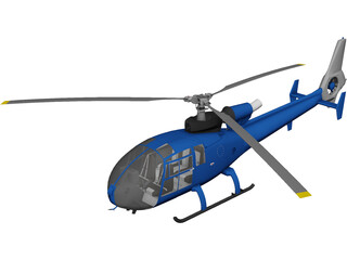 Aerospatiale Gazelle 3D Model