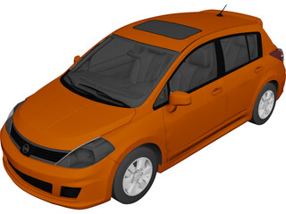 Nissan Versa SL IE (2009) 3D Model