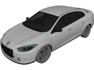 Renault Fluence (2011) 3D Model