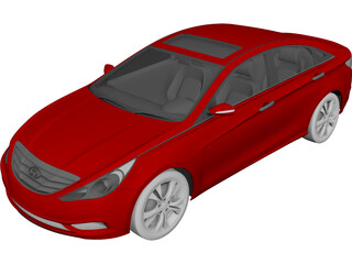 Hyundai Sonata (2011) 3D Model