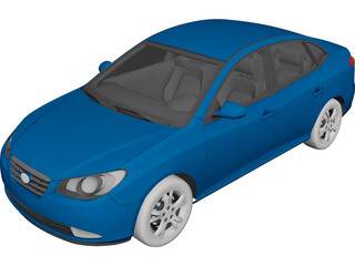 Hyundai Elantra (2011) 3D Model 3D Preview