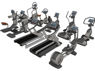 Excite Group Visio Fitness Set 3D Model