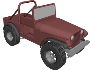 Jeep Renegade CAD 3D Model