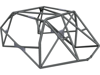 Roll Cage FIA CAD 3D Model